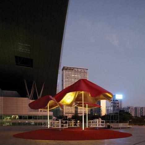 Pabellon Ultraligero Centrifugo by Clavel Arquitectos