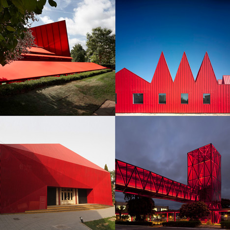 Dezeen archive: red buildings