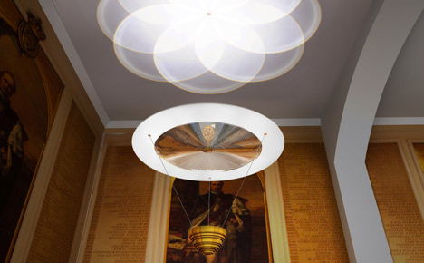 RSA House chandeliers by Troika