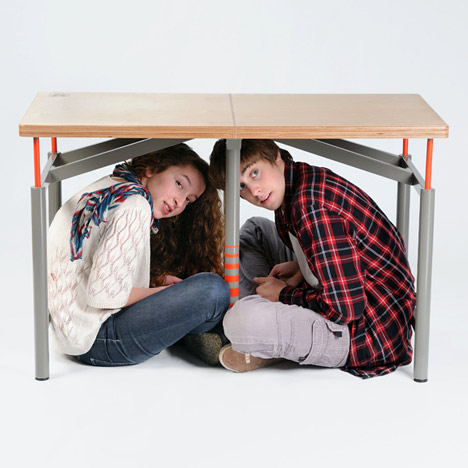 Earthquake Proof Table by Arthur Brutterand Ido Bruno