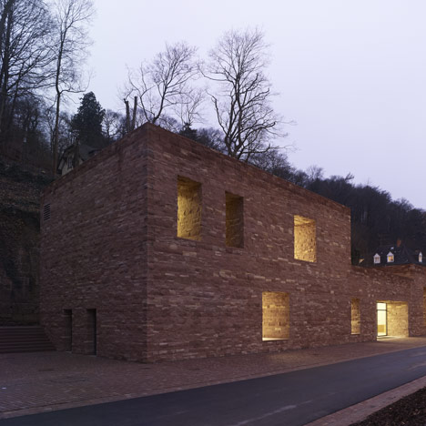 Heidelberg Castle Visitor Centre by Max Dudler