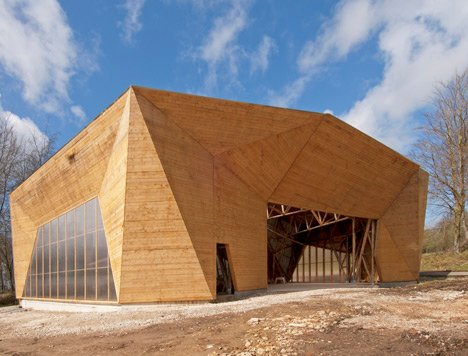 Hooke Park Big Shed by Piers Taylor and AA