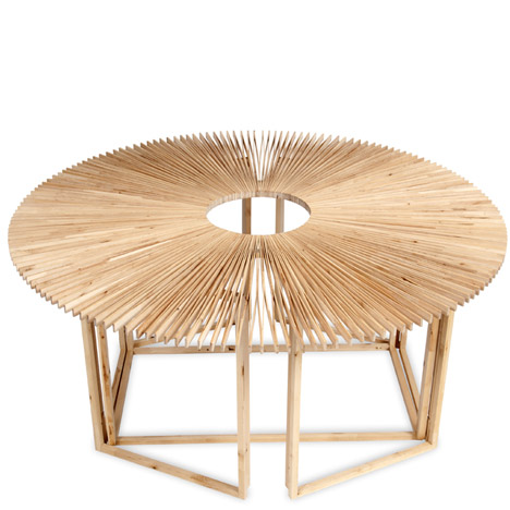 Fan Table by Mauricio Affonso at Ventura Lambrate