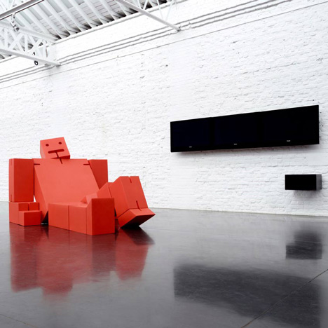 Giant Cubebot by David Weeks for Quinze & Milan and Areaware at MOST