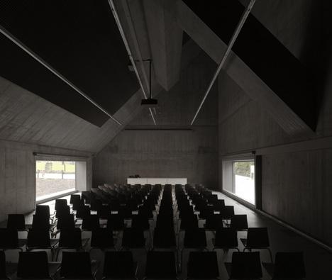 Plantahof Auditorium by Valerio Olgiati