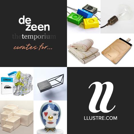 LLUSTRE hosts a guest curation by Dezeen's Temporium