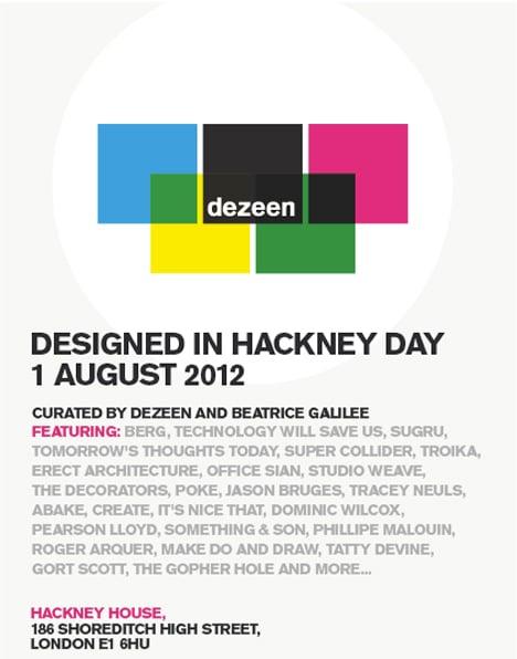 Designed in Hackney Day