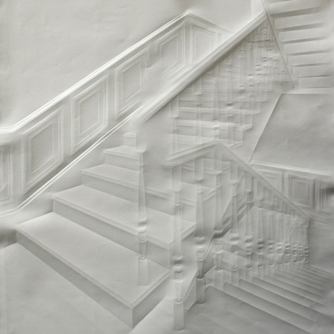 Paper works by Simon Schubert