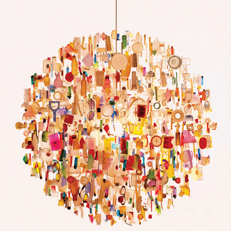 Tide chandelier by Stuart Haygarth