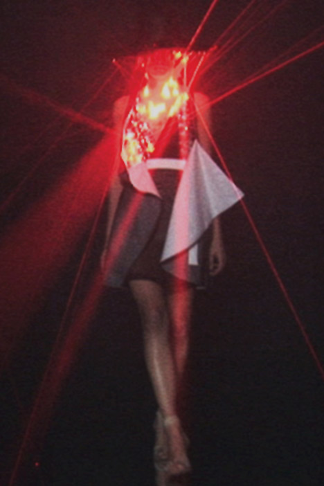 laser dress by Hussein Chalayan