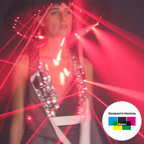 Designed in Hackney: laser dresses by Hussein Chalayan for Swarovski