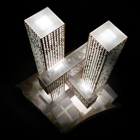 Cross Towers by BIG