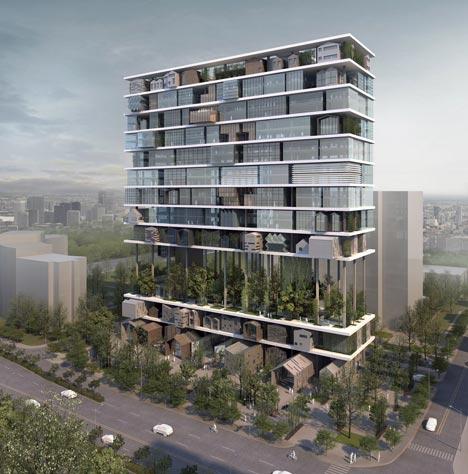 shelf hotel by 3gatti architecture studio dezeen