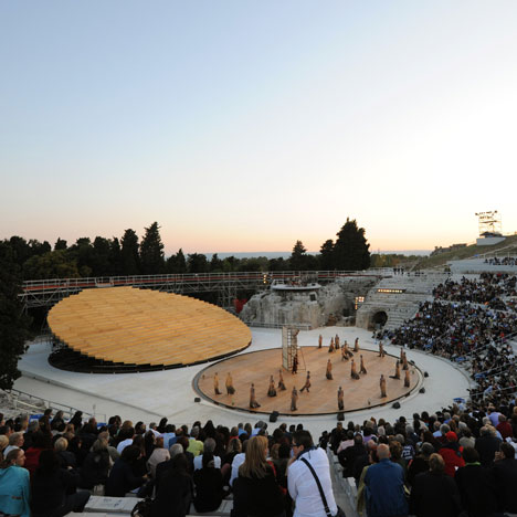 Stage set at the Greek Theatre in Syracuse<br /> by OMA