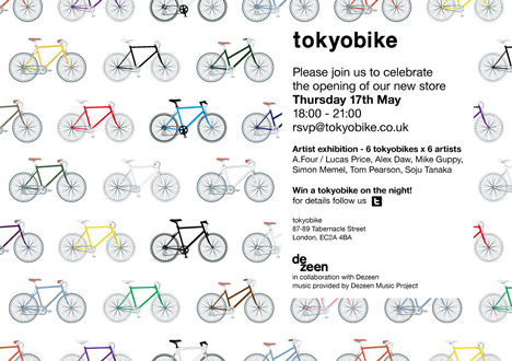 tokyobike opening party invite