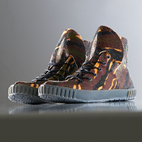 Rayfish bio-customised sneakers