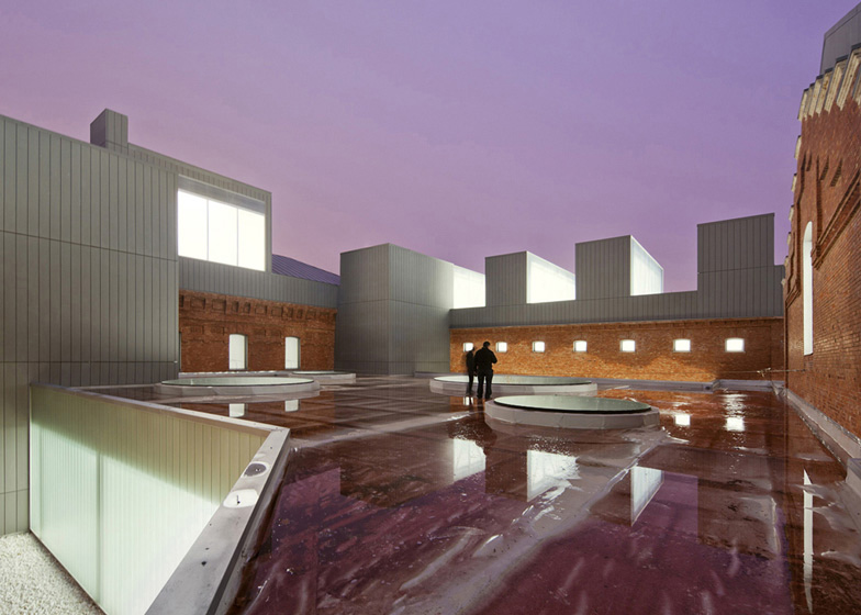 Exit Architects turned this former prison in Palencia into a cultural and civic centre with a glass pavilion