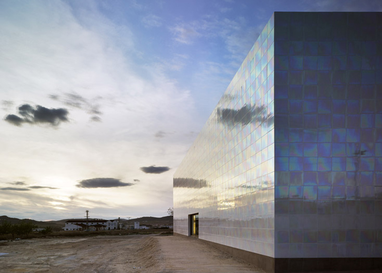 This music hall in a village near Alicante is clad with shimmering porcelain tiles