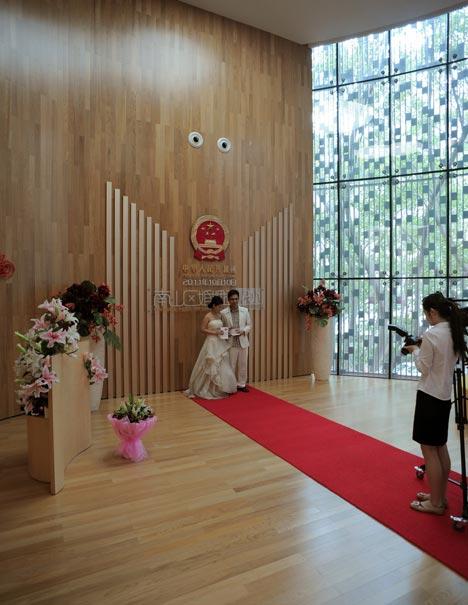 Nanshan Marriage Registration Centre by Urbanus