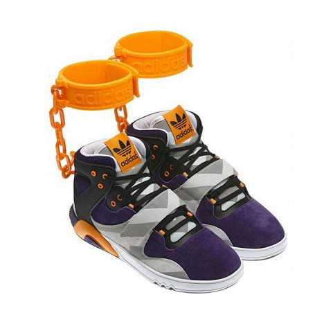 Adidas withdraw shoe with shackles