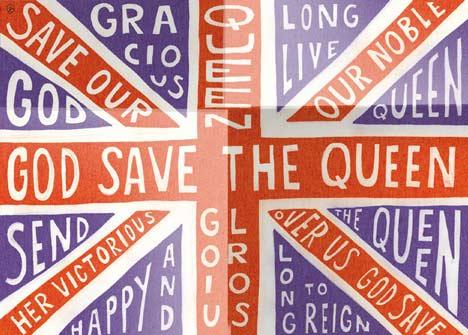 Diamond Jubilee Souvenir Poster by Sarah Hyndman