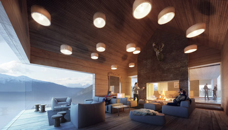 Mountain Lodge on Sognefjorden by Haptic