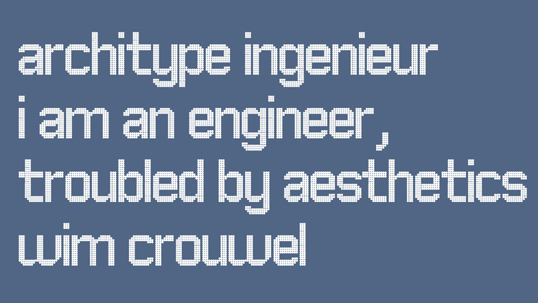 Typefaces by Wim Crouwel for The Foundry