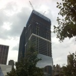 Four World Trade Center tops out