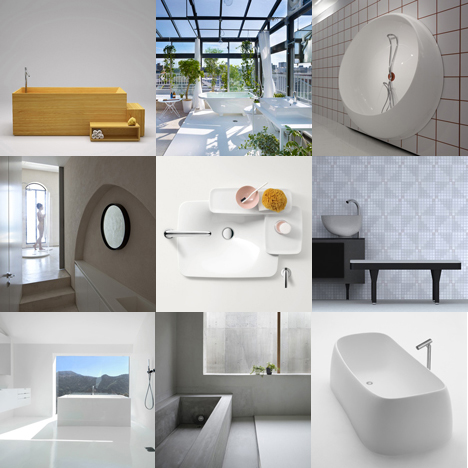 New pinterest board bathrooms dezeen for Pinterest bathroom