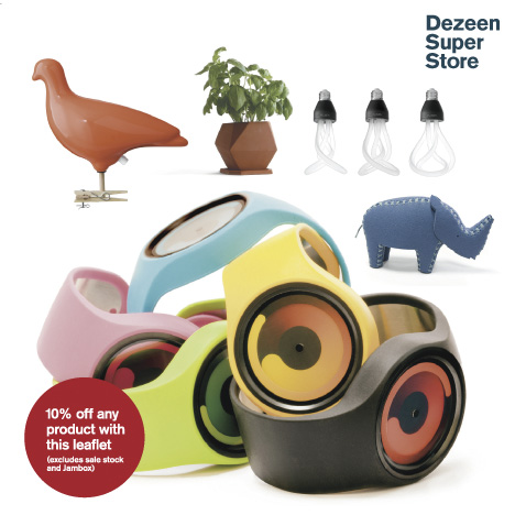 Get 10% off any product at Dezeen Super Store