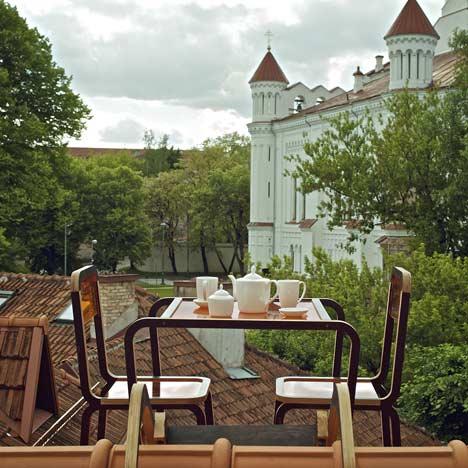 Ridged Roof Furniture by Ainė Bunikytė