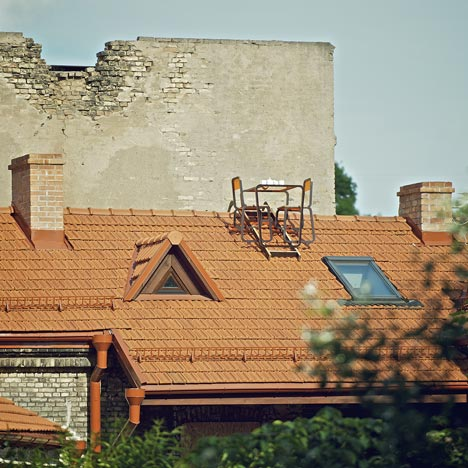 Ridged Roof Furniture by Ainė Bunikytė