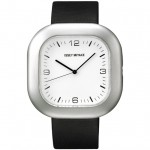Issey Miyake GO watch silver/black leather