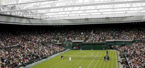Wimbledon Centre Court sliding roof by Populous