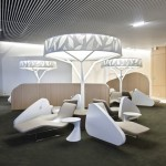 Air France Business Lounge by Brandimage and Noé Duchaufour-Lawrance
