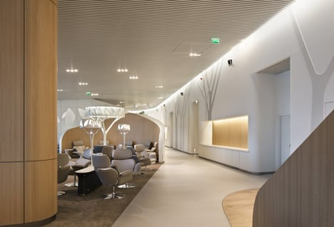 Air France Business Lounge by Noe Duchaufour Lawrance and Brandimage