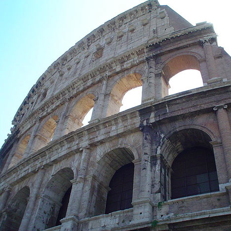Colosseum in Rome is leaning