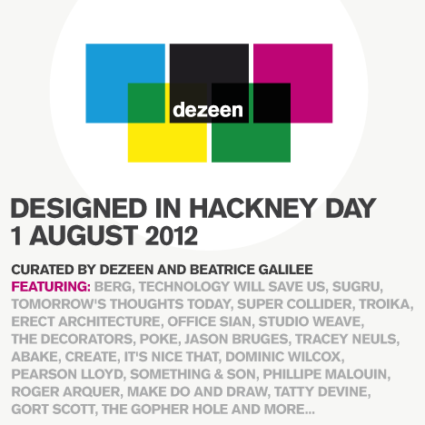Designed in Hackney Day programme announced