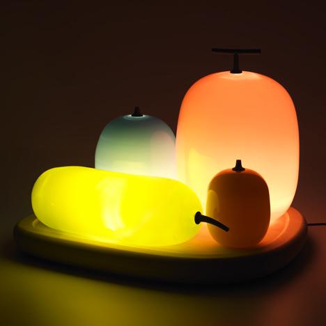 Fruits Table Lamp by Hisakazu Shimizu