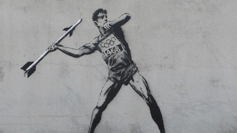 London 2012 street art by Banksy