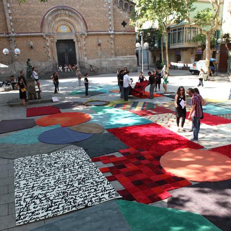Rugs in Plaça de la Virreina by Nanimarquina
