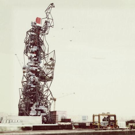 Scrap Skyscraper by Projeto Coletivo
