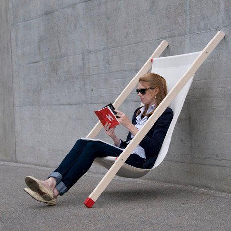 Curt deck chair by Bernhard Burkard