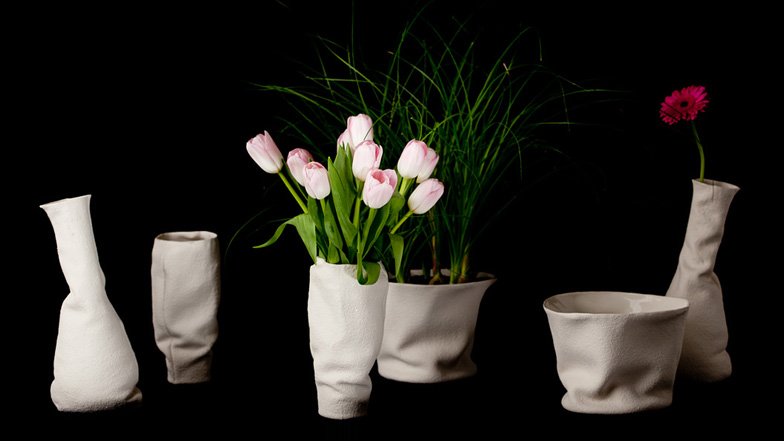 Drapery Vases by Kruskopf and Kuisma