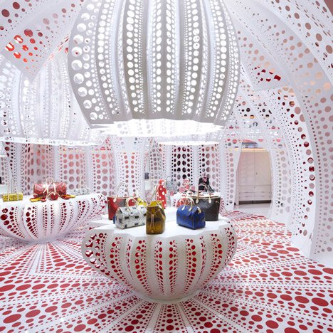 Louis Vuitton & Kusama concept store at Selfridges