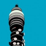 Modernist London cards and BT Tower print by Stefi Orazi at Dezeen Super Store