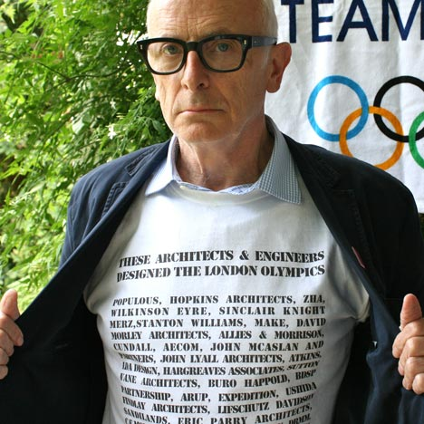 Olympic Marketing Protest T-shirt by Peter Murray at Dezeen Super Store