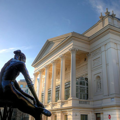 Royal Opera House and ballerina photographed by Russ London