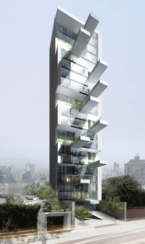 Sky Condos by DCPP features cantilevered pools