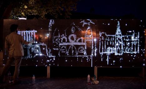 Water Light Graffiti by Antonin Forneau for DigitalArti Artlab